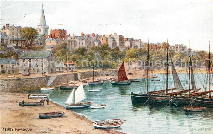 AK / Ansichtskarte Tenby Harbour Tenby