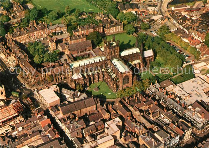 AK / Ansichtskarte Sheffield Fliegeraufnahme Chester Cathedral Sheffield