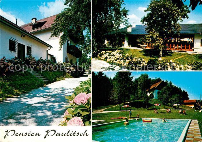 AK / Ansichtskarte Reifnitz_Woerthersee Pension Paulitsch Freibad Reifnitz Woerthersee