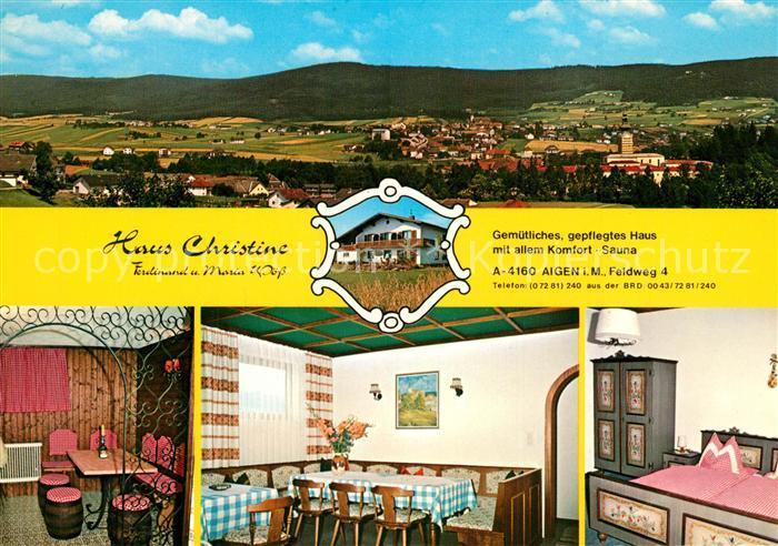 AK / Ansichtskarte Aigen_Muehlkreis Haus Christine Panorama Aigen Muehlkreis