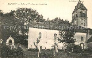 AK / Ansichtskarte Saint Point Eglise et Tombeau de Lamartine Saint Point