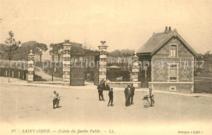 AK / Ansichtskarte Saint Omer_Pas de Calais Entr?e du Jardin Public Saint Omer_Pas de Calais