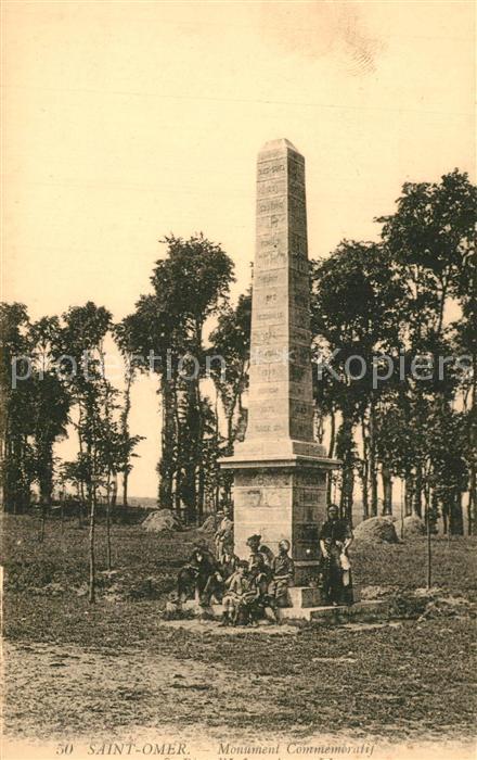 AK / Ansichtskarte Saint Omer_Pas de Calais Monument Commemoratif Saint Omer_Pas de Calais