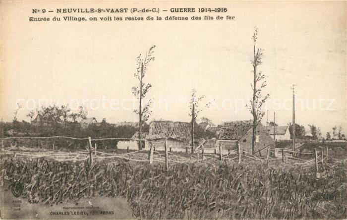 AK / Ansichtskarte Neuville Saint Vaast La Grand Guerre 1914 16  Neuville Saint Vaast