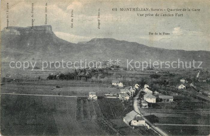 AK / Ansichtskarte Montmelian Quartie de la Gare Fliegeraufnahme Montmelian