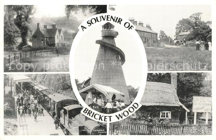 AK / Ansichtskarte Bricket_Wood The Helter Skelter Old Watford Road The Gate Pound Green The Station