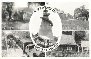 AK / Ansichtskarte Bricket_Wood The Helter Skelter Old Watford Road The Gate Pound Green The Station