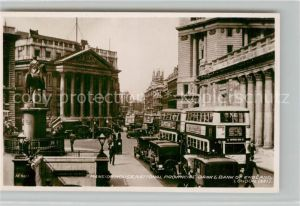 AK / Ansichtskarte London Mansion House National Provincial Bank and Bank of England London