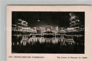 AK / Ansichtskarte London The Franco British Exhibition The Court of Honour by Night London