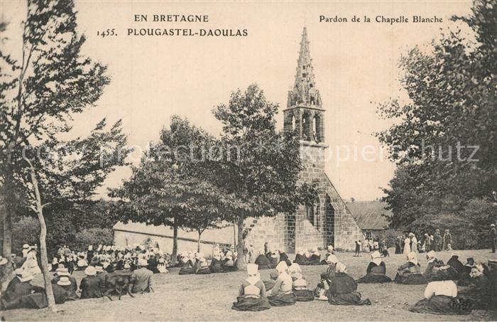 AK / Ansichtskarte Plougastel Daoulas Pardon de la Chapelle Blanche Plougastel Daoulas