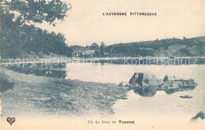 AK / Ansichtskarte Auvergne_Region Le Gour de Tazenat Auvergne Region