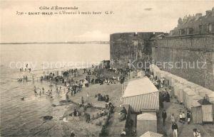 AK / Ansichtskarte Saint Malo_Ille et Vilaine_Bretagne Eventail a maree haute Saint Malo_Ille et Vilaine
