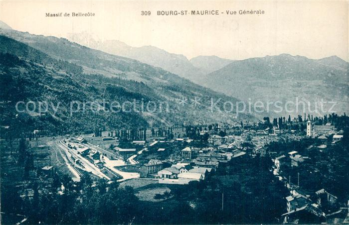 AK / Ansichtskarte Bourg Saint Maurice Vue generale Massif de Bellecote Bourg Saint Maurice
