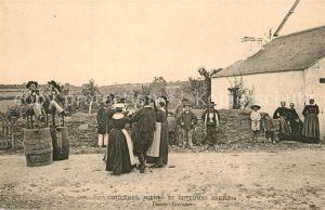 AK / Ansichtskarte Bretagne_Region Coutumes Moeurs et Custumes Bretons Danses Bretonne Bretagne Region