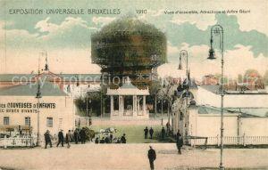 AK / Ansichtskarte Exposition_Universelle_Bruxelles_1910 Arbre Geant Couveuses d Enfants