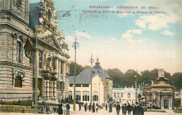 AK / Ansichtskarte Exposition_Universelle_Bruxelles_1910 Palais de la Ville de Bruxelles Maison de Rubens