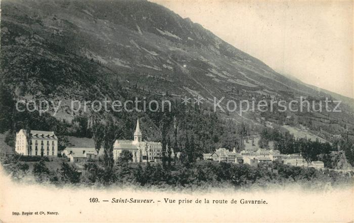 AK / Ansichtskarte Saint_Sauveur_Hautes_Pyrenees Vue prise de la Route de Gavarnie Saint_Sauveur