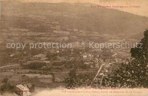 AK / Ansichtskarte Loures Barousse Vue panoramique sur le Grand Hotel de Barbazan et le Village Loures Barousse