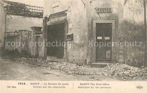 AK / Ansichtskarte Barcy La Guerre 1914 Bureau de poste detruit par les allemands Barcy