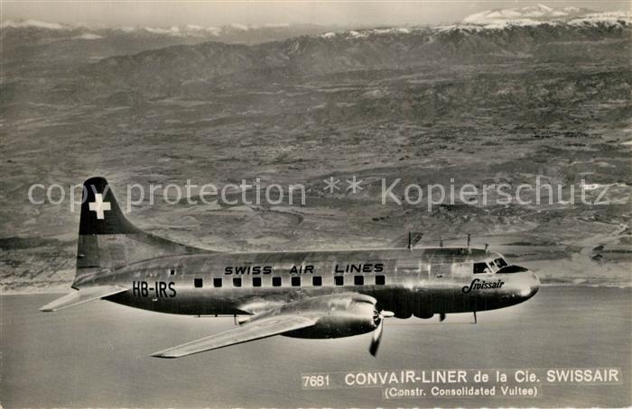 AK / Ansichtskarte Swissair Convair Liner Consolidated Vultee