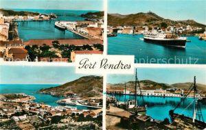 AK / Ansichtskarte Port Vendres Port et Gare Maritime Depart du Courrier Bateaux de Peche Quai Port Vendres