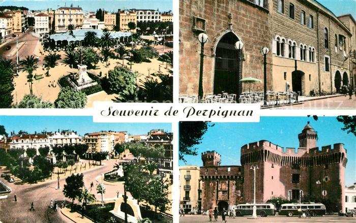 AK / Ansichtskarte Perpignan Place Arago La Mairie Place de la Catalogne le Castillet Perpignan