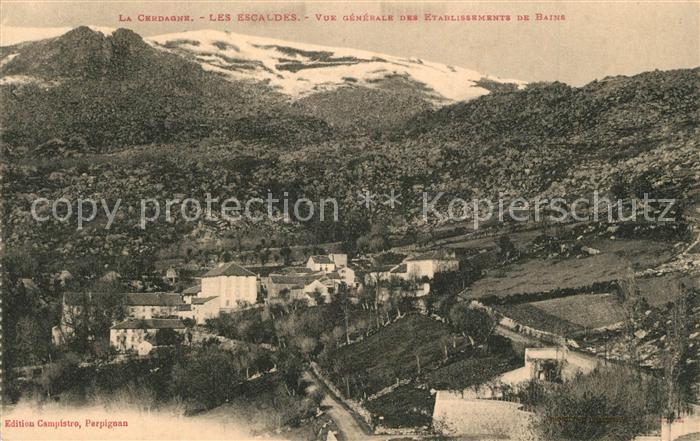 AK / Ansichtskarte Les_Escaldes Vue generale des Etablissements de Bains Les_Escaldes
