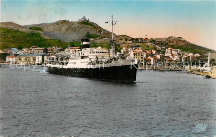 AK / Ansichtskarte Port Vendres El Mansour sortant du Port Port Vendres