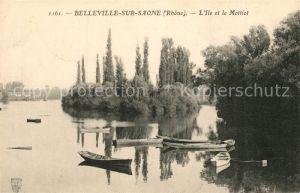 AK / Ansichtskarte Belleville sur Saone Ile et le Mottiot Belleville sur Saone