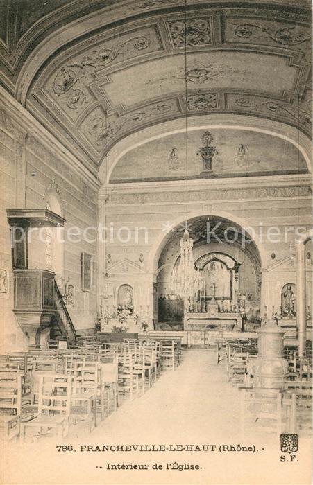 AK / Ansichtskarte Francheville_Rhone Interieur de l Eglise Francheville_Rhone