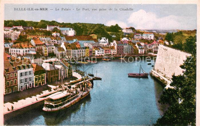 AK / Ansichtskarte Belle Ile en Mer Palais Port Vue prise de la Citadelle Belle Ile en Mer