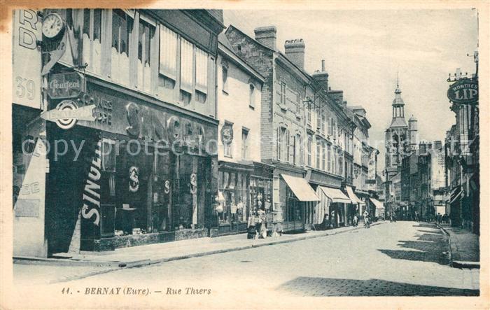 AK / Ansichtskarte Bernay Rue Thiers Bernay