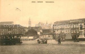 AK / Ansichtskarte Mons_Ales Bahnhofsplatz Mons_Ales