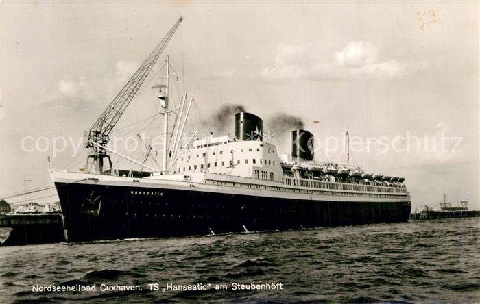 AK / Ansichtskarte Dampfer_Oceanliner TS Hanseatic Steubenh?ft Cuxhaven