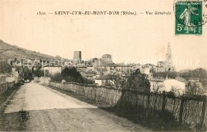 AK / Ansichtskarte Saint Cyr au Mont d_Or Vue generale Eglise Saint Cyr au Mont d Or