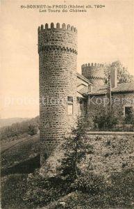 AK / Ansichtskarte Saint Bonnet le Froid Les Tours du Chateau Saint Bonnet le Froid