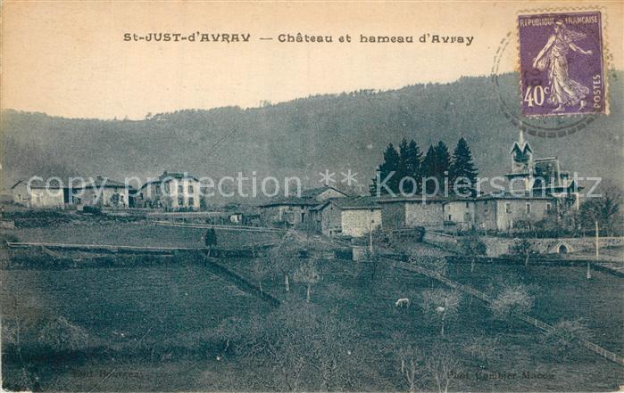 AK / Ansichtskarte Saint Just d_Avray Chateau et hameau d Avray Saint Just d_Avray
