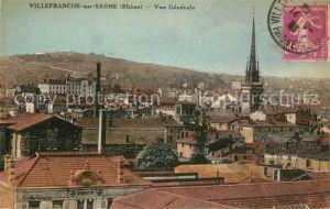 AK / Ansichtskarte Villefranche sur Saone Vue generale sur la ville Eglise Villefranche sur Saone