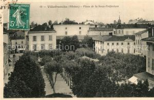 AK / Ansichtskarte Villefranche sur Saone Place de la Sous Prefecture Villefranche sur Saone