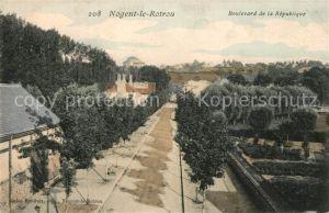 AK / Ansichtskarte Nogent le Rotrou Boulevard de la Republique Nogent le Rotrou