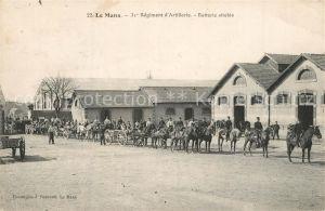 AK / Ansichtskarte Le_Mans_Sarthe 31e Regiment d'Artillerie Batterie attelee Le_Mans_Sarthe