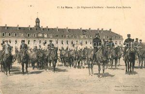 AK / Ansichtskarte Le_Mans_Sarthe 31e Regiment d'Artillerie Rentree d'une Batterie Le_Mans_Sarthe