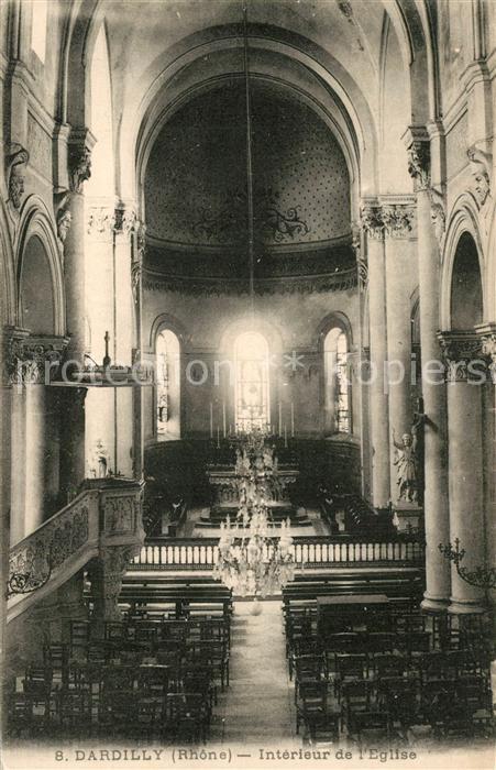 AK / Ansichtskarte Dardilly Interieur de l Eglise Dardilly
