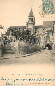 AK / Ansichtskarte Triel sur Seine Eglise et la Rue Galande Triel sur Seine