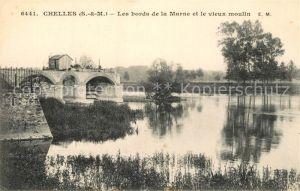 AK / Ansichtskarte Chelles_Seine et Marne Les bords de la Marne et le vieux moulin Chelles_Seine et Marne