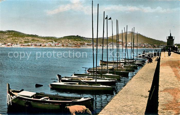 AK / Ansichtskarte Sanary sur Mer Le Port et la Jetee Cote d Azur Sanary sur Mer