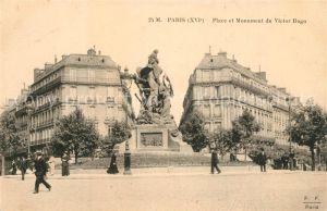 AK / Ansichtskarte Paris Place et Monument de Victor Hugo Paris