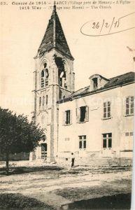 AK / Ansichtskarte Barcy Guerre de 1914 Eglise Ruine Barcy