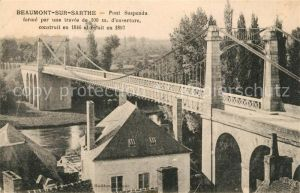 AK / Ansichtskarte Beaumont sur Sarthe Pont Suspendu Beaumont sur Sarthe