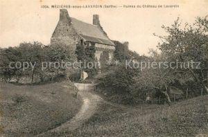 AK / Ansichtskarte Mezieres sous Lavardin Ruines du Chateau de Lavardin Mezieres sous Lavardin